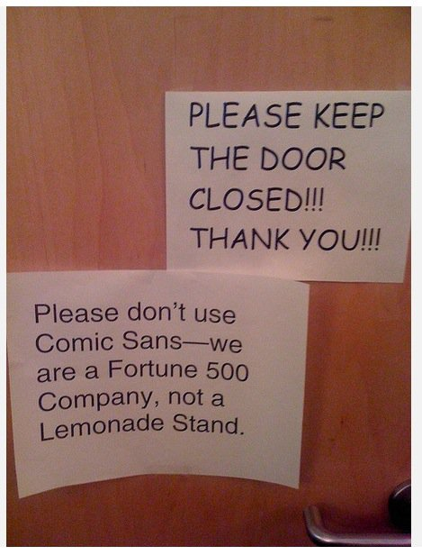 BAN COMIC SANS! - Whenever I'm about to do something, I